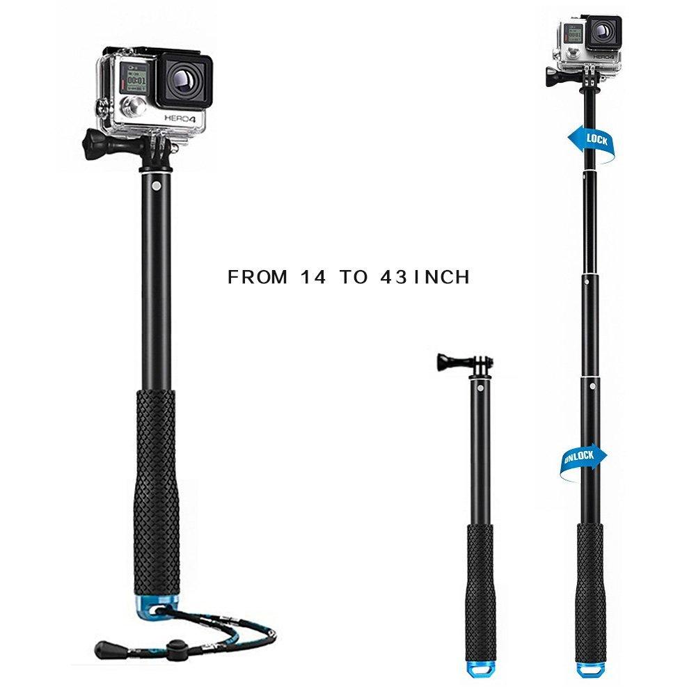 Waterproof GoPro Flexible Telescoping Monopod Tripod with Adjustable Wrist Strap (14-43inch) $8 @Amazon