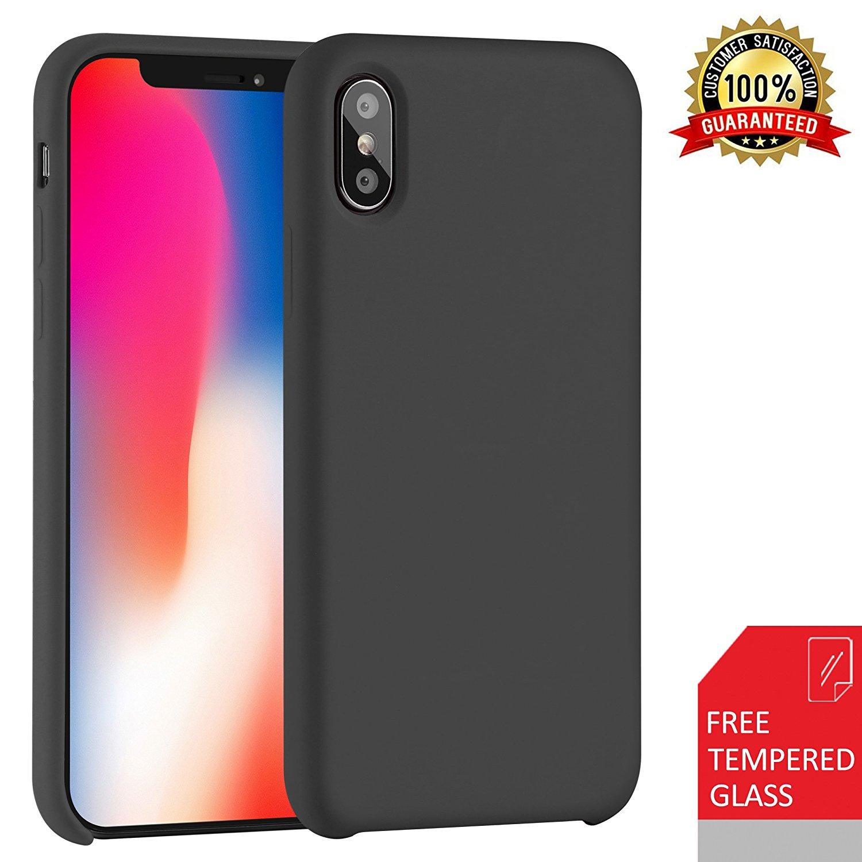 iPhone X/10 Case Liquid Silicone Gel Rubber Cover $7