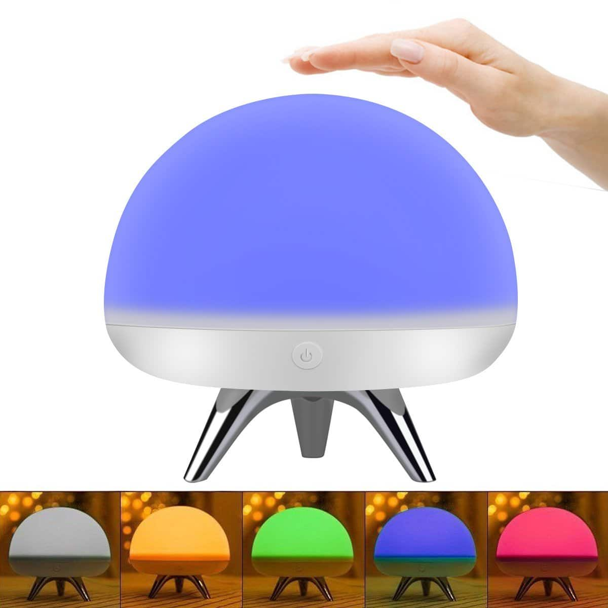 Portable Soft Silicone Decorative LED Touch Desk Lamp Nightlight @Amazon $7.60 AC