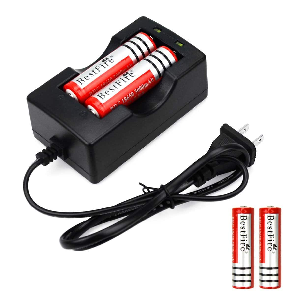 4x 18650 3.7V Rechargeable Low Self-discharge Li-ion Battery With Charger Combo @Amazon $7