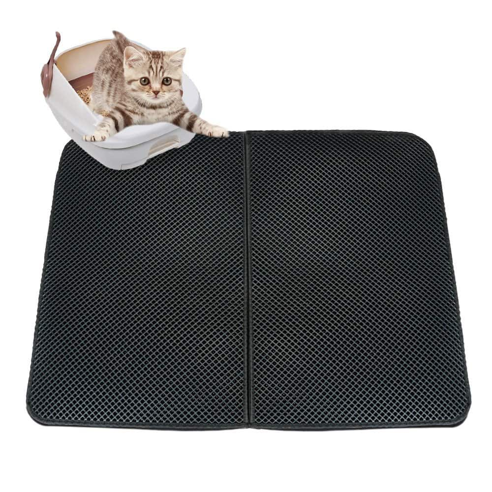 "Double Layer Cat Litter Trapper Mat with Urine/Waterproof Base Layer (27"" x 21"") @Amazon $15"