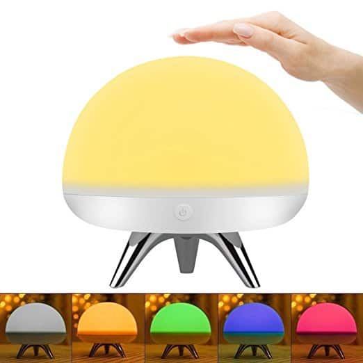 LED Silicone Nightlight Lamp -  Touch Sensor - 4 Lighting Modes - 5 Colors - USB Rechargeable @Amazon $5.55