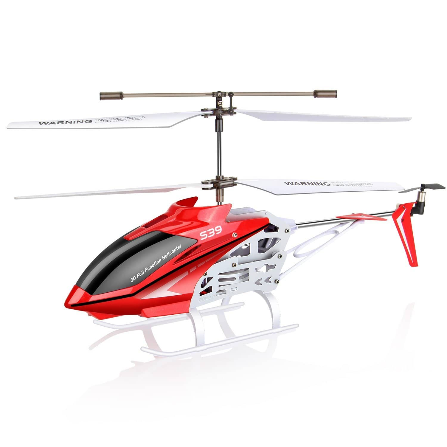 Syma S39 RC Remote Control Helicopter with GYRO - 2.4G 3CH-Red @Amazon $19.80