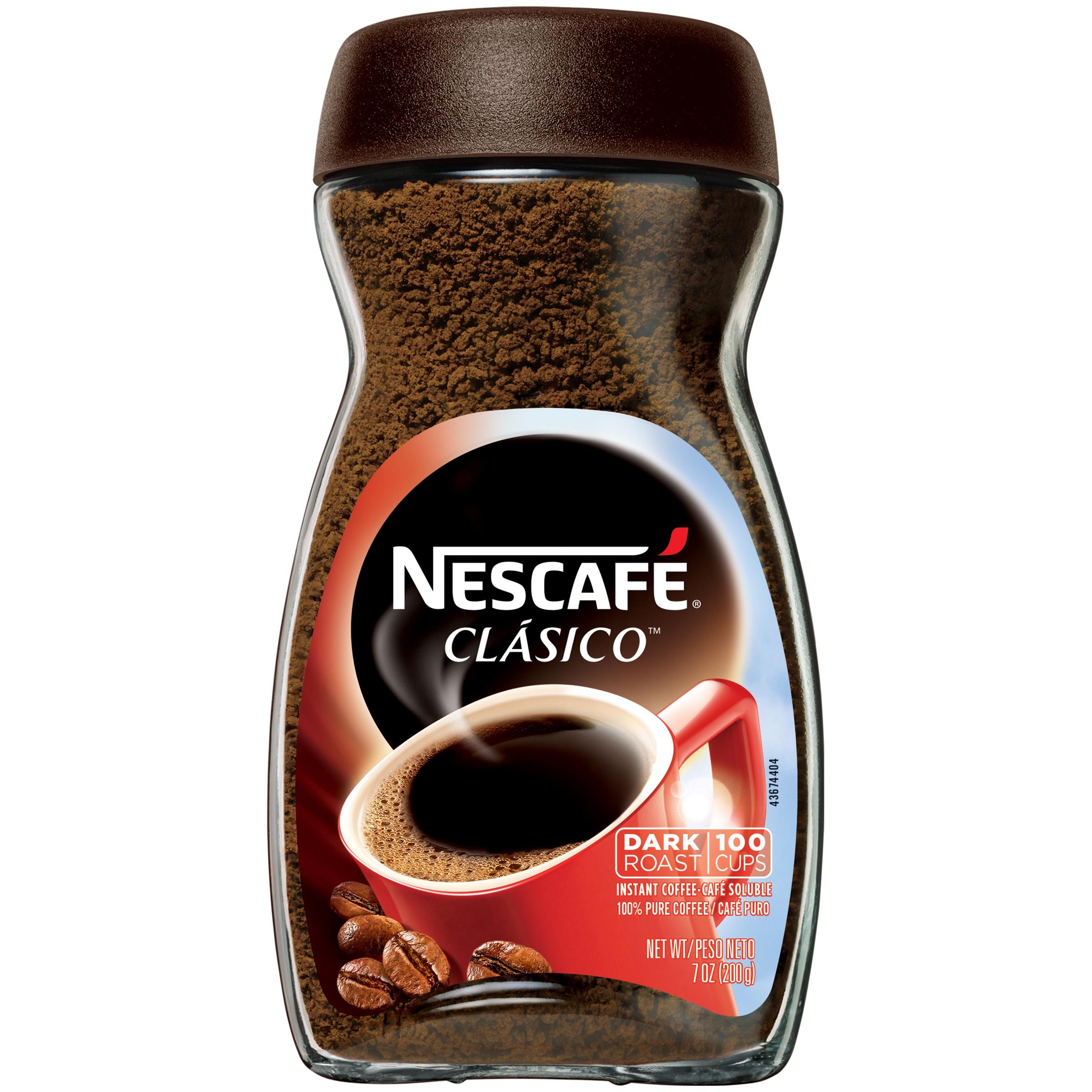 NESCAFE CLASICO Dark Roast Instant Coffee 7 oz. Jar $4.98
