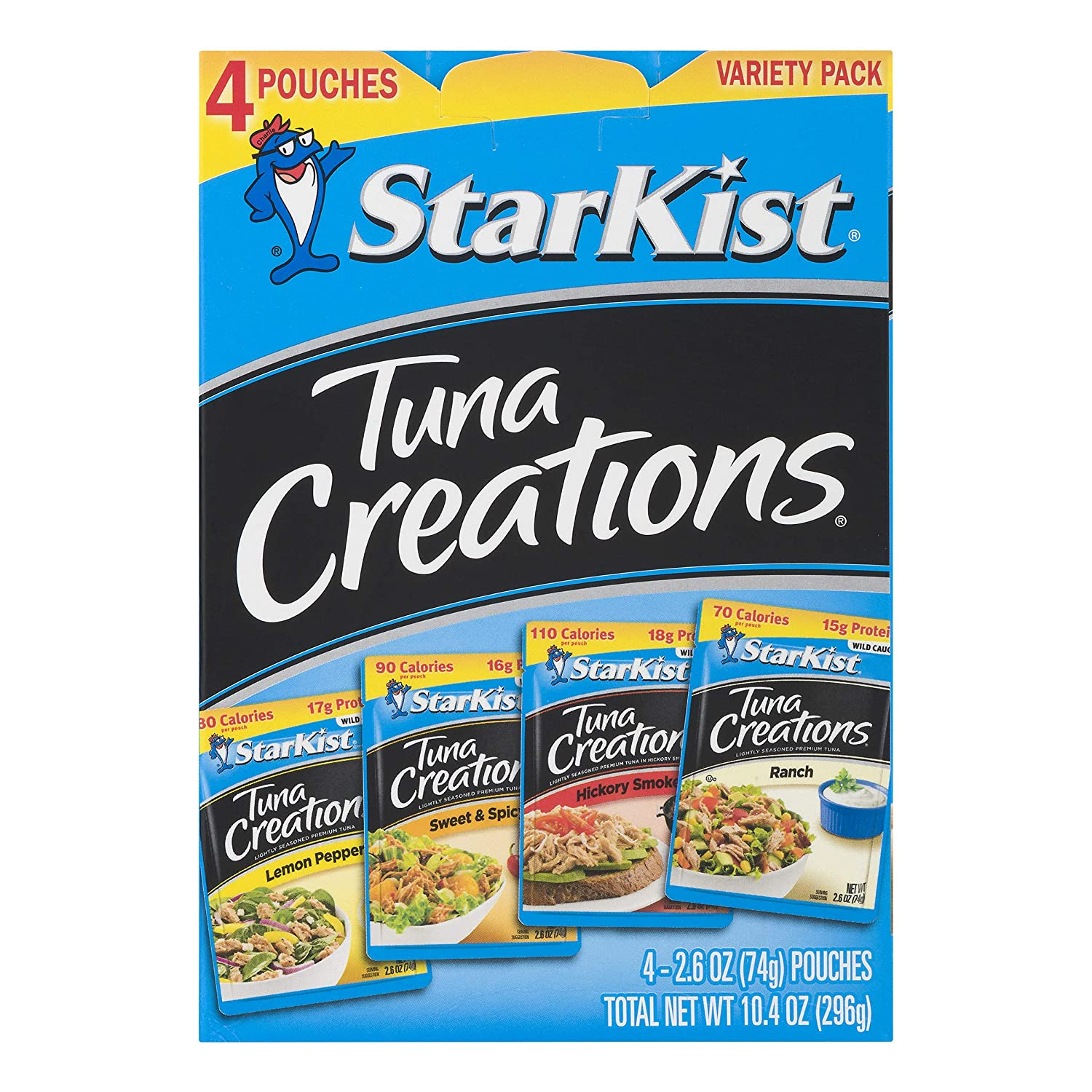 (4 Pouches) StarKist Tuna Creations Variety Pack, 2.6 oz (Multiple Flavors) $3.78