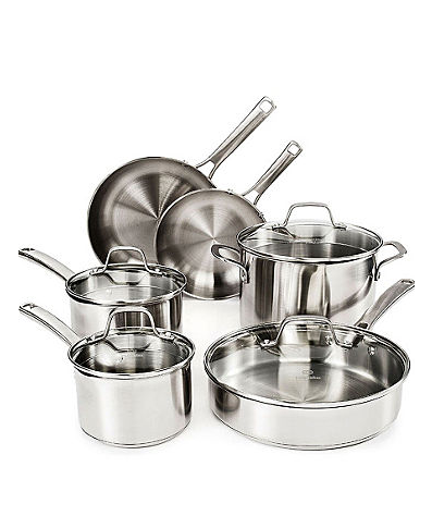 Calphalon Classic Stainless Steel 10 pc Cookware et $99