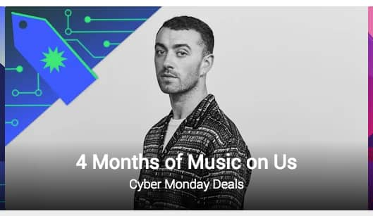 CYBER MONDAY DEAL - 4 Months of Google Play Music FREE (new users)