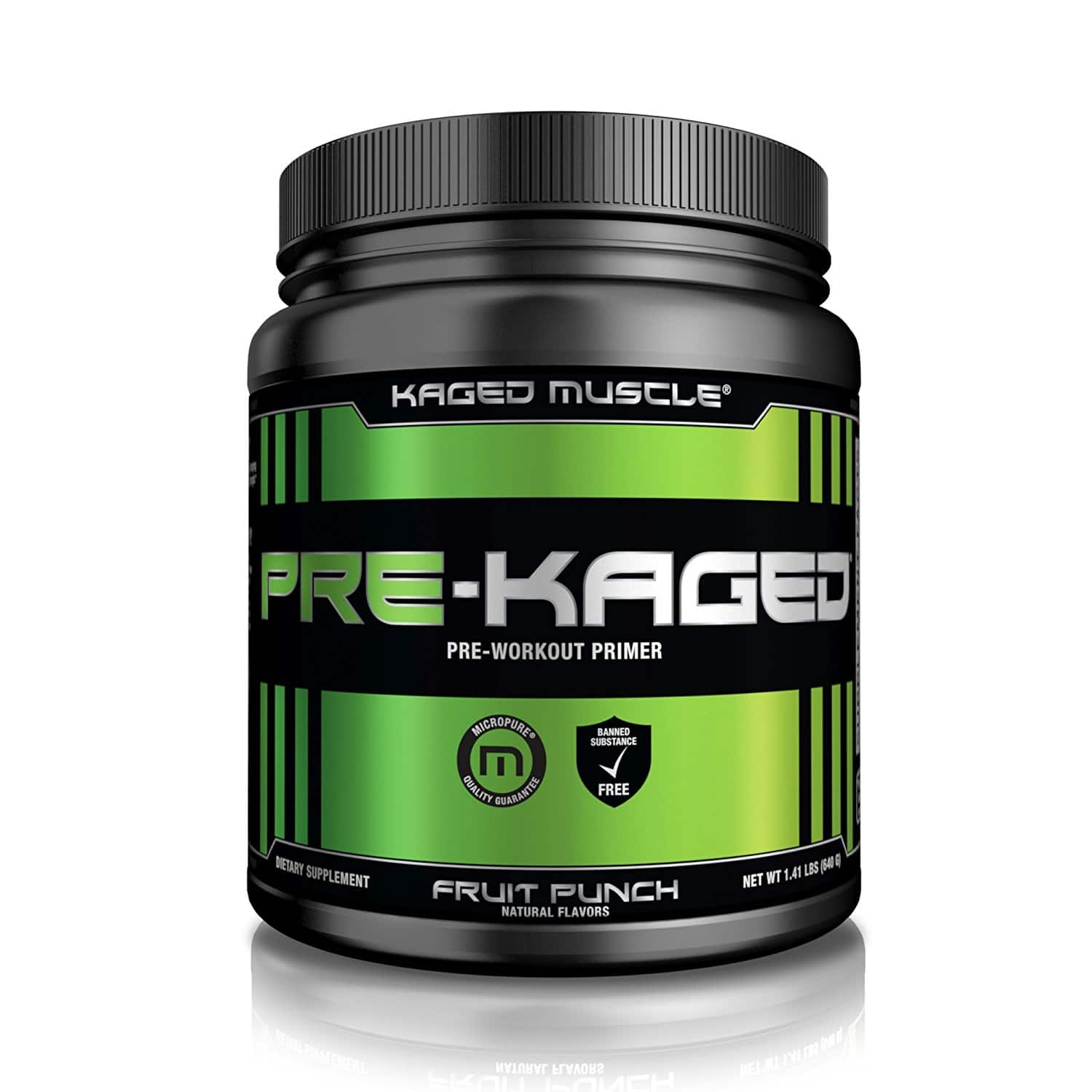 PRE-KAGED Pre Workout Powder – Fruit Punch - 20 Servings $30.39