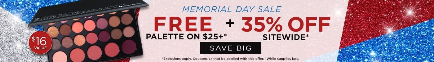 Bh cosmetics 35% off memorial day sale