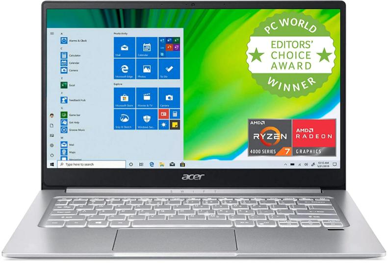 """Acer Swift 3 Laptop: Ryzen 7 4700U, 14"""" Full HD IPS, 8GB DDR4, 512GB SSD $611.07"""