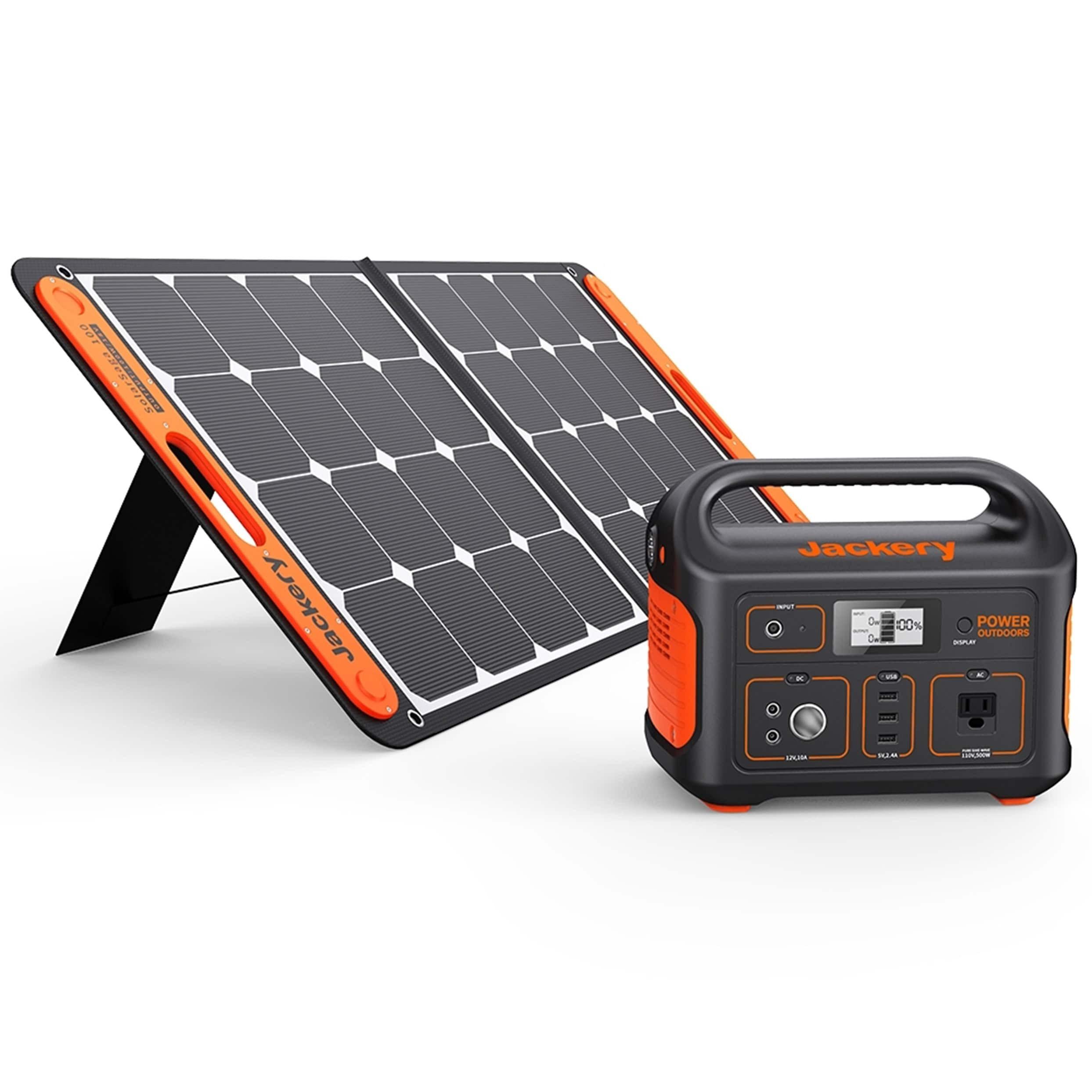 Jackery 550-Watt Hour Portable Solar Generator + Solar Panel $789