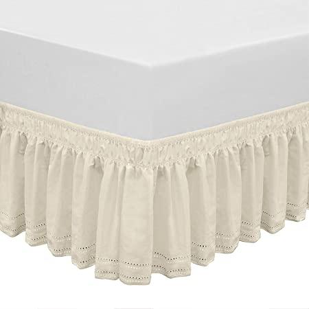 "Queen Size Wrap-Around Dust Ruffles Bed Skirt - 15"" Drop $5.98"