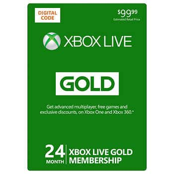 Xbox Live 24-Month Gold Digital Download $94.99