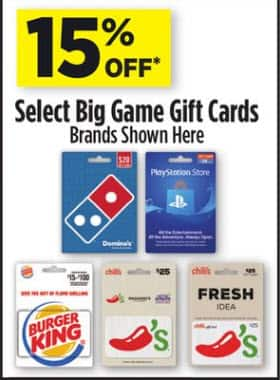 Dollar General Stores Select Gift Cards PlayStation Store