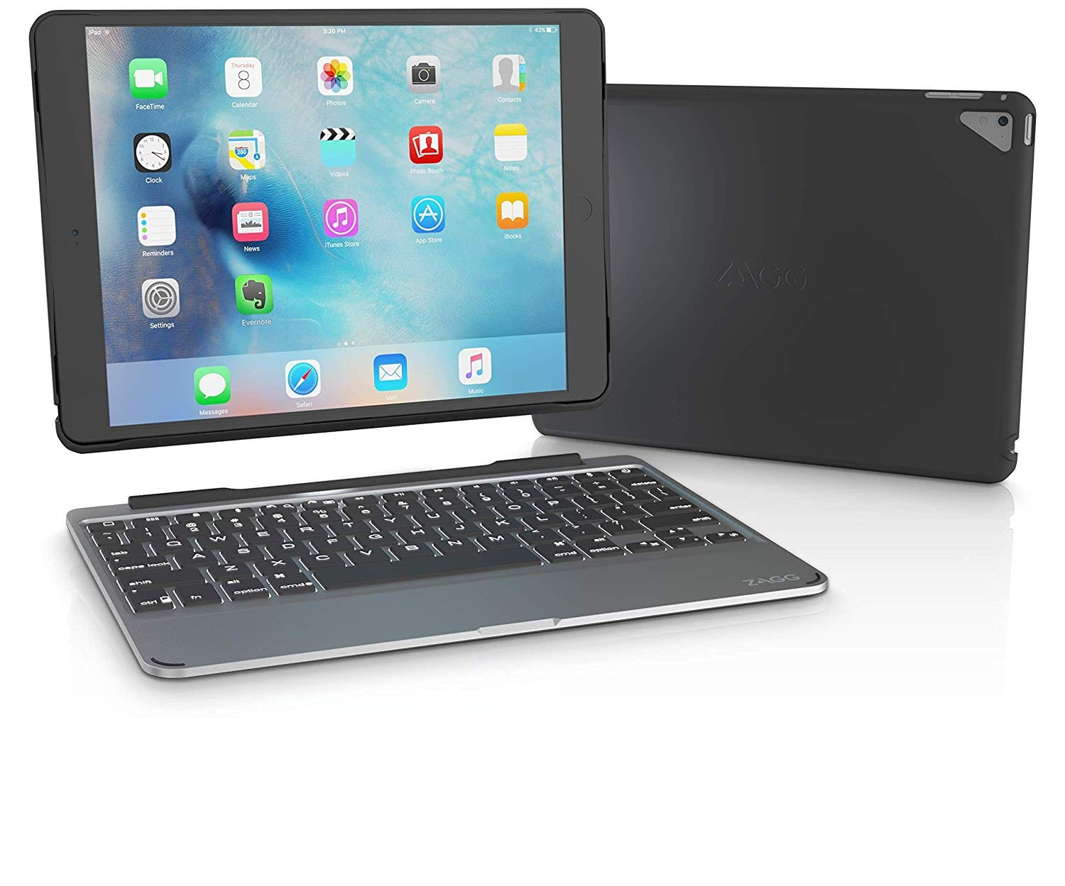 ZAGG Slim Book Ultrathin Case, Hinged with Detachable Bluetooth Keyboard for Apple iPad Pro 9.7 - Black $18.89