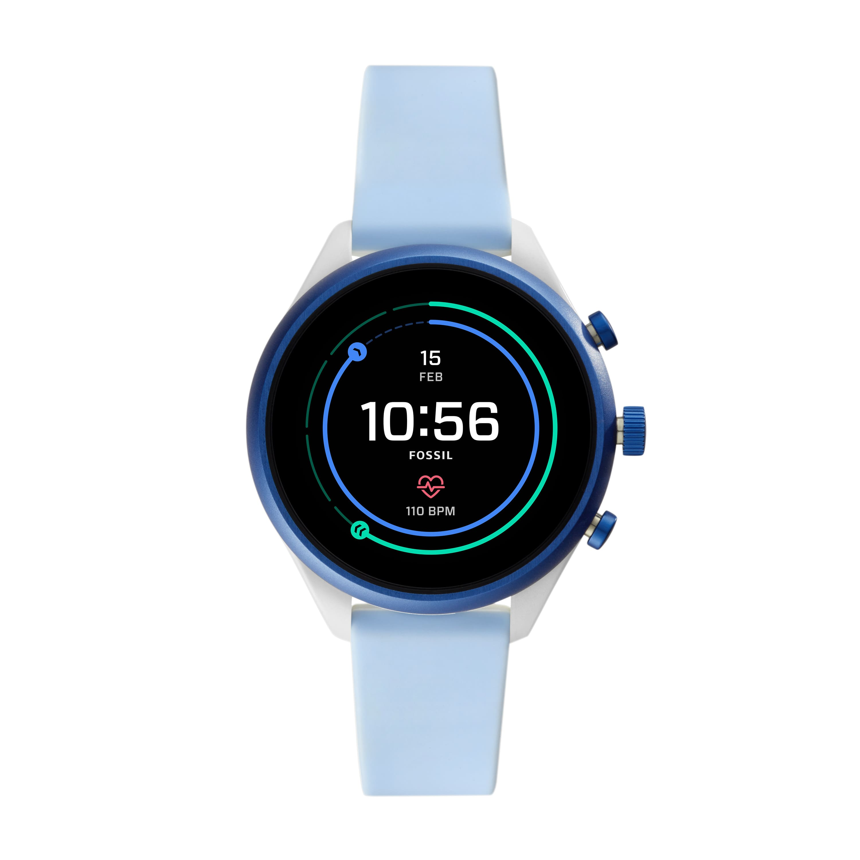 Fossil Sport Women's Smartwatch - Light Blue Silicone 41mm - Powered with Wear OS by Google $149