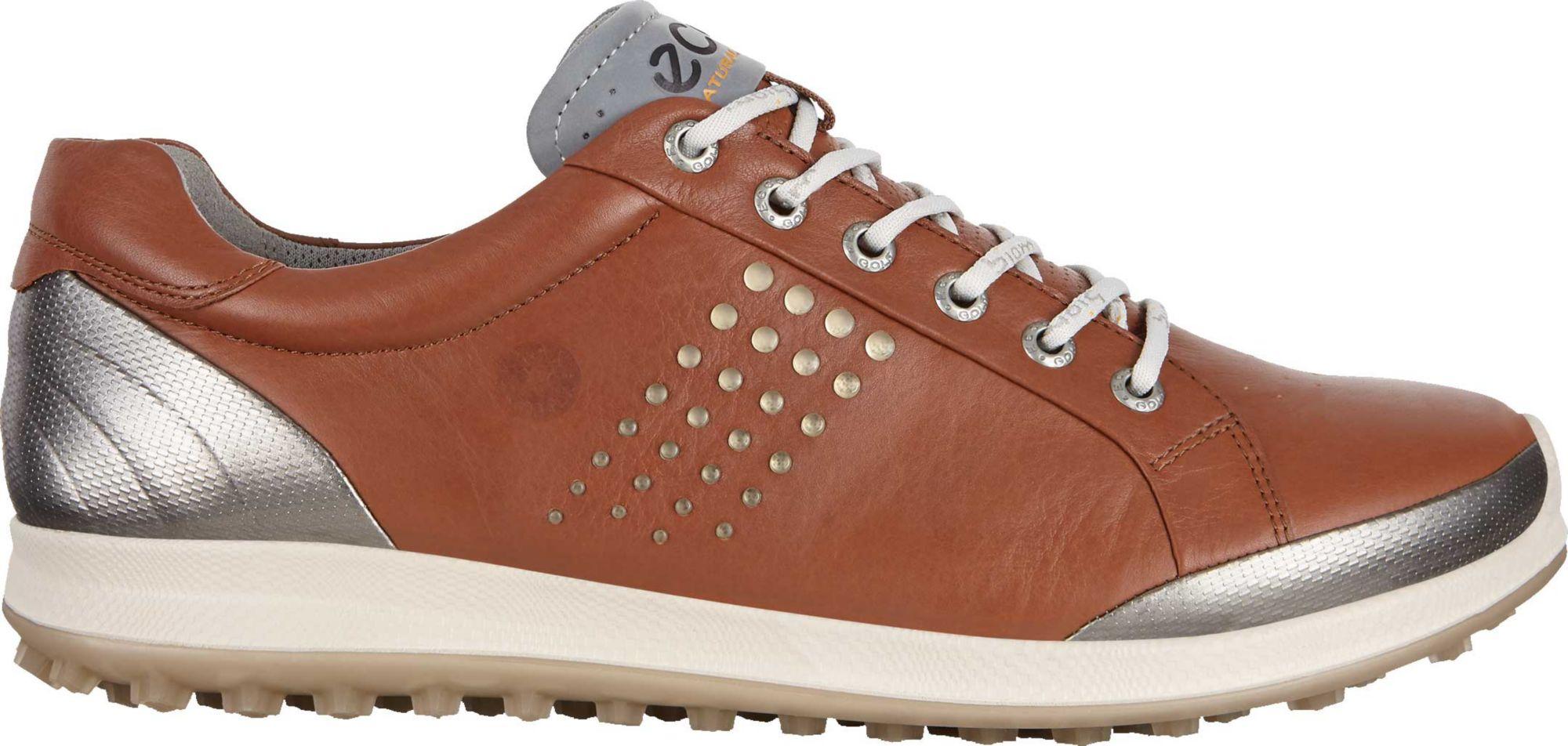 ECCO BIOM Hybrid 2 Spikeless Golf Shoes (Mahogany & White/Black) $109.98