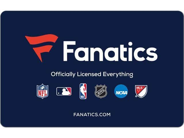 Fanatics $50 Gift Card (Email Delivery) $40