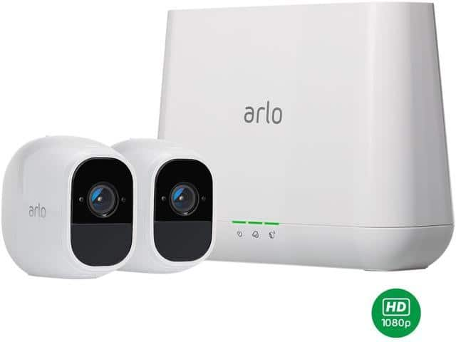 Arlo Pro 2 Security Camera System - 2 Rechargeable Battery Powered Wire-Free HD 1080p Free Arlo Basic 7-Day Cloud Storage Recording - VMS4230P $234.99