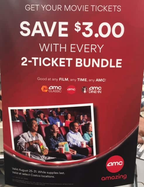 Save $3 on AMC Movie Tickets (Costco)