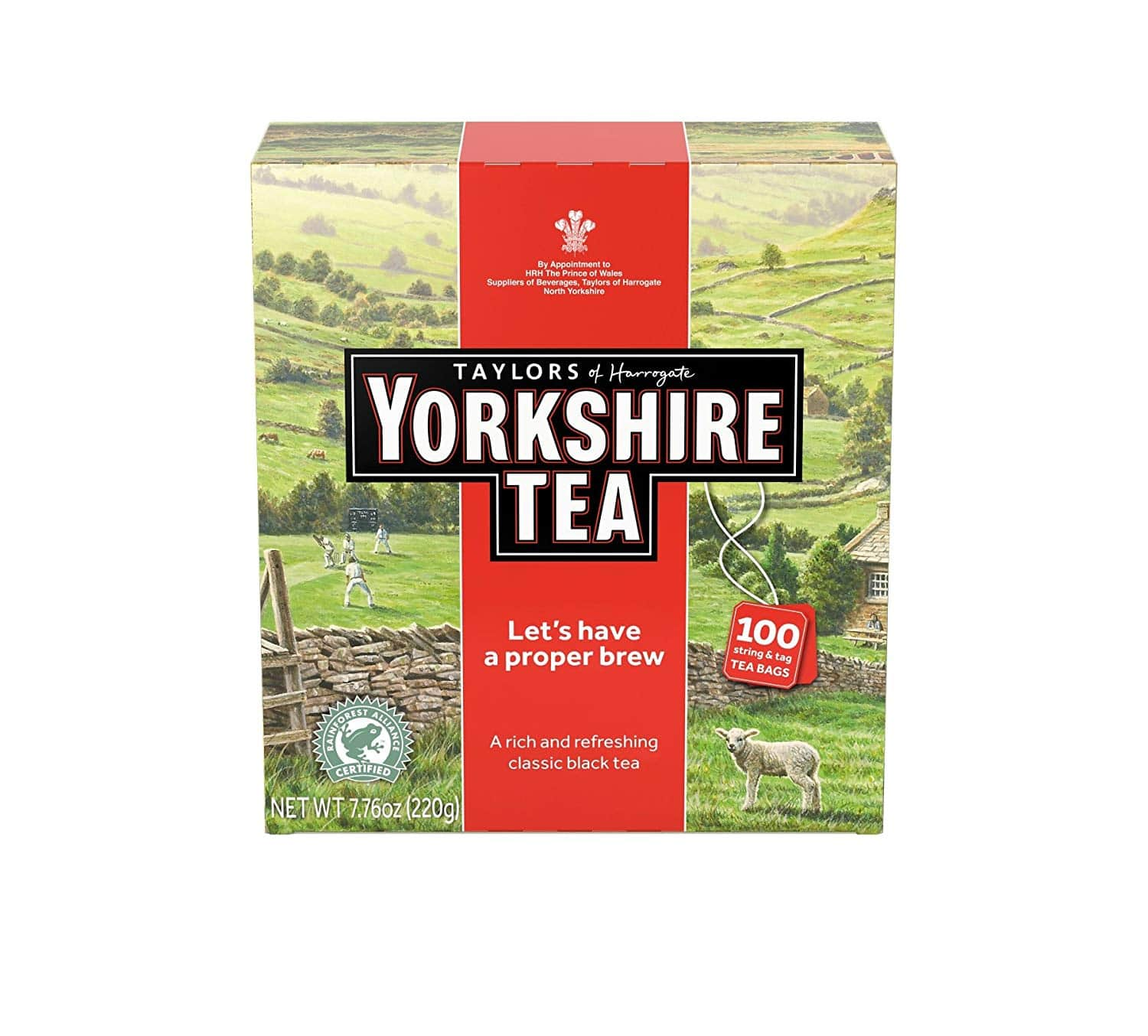 Taylors of Harrogate Yorkshire Red, 100 Teabags, Amazon $3.79