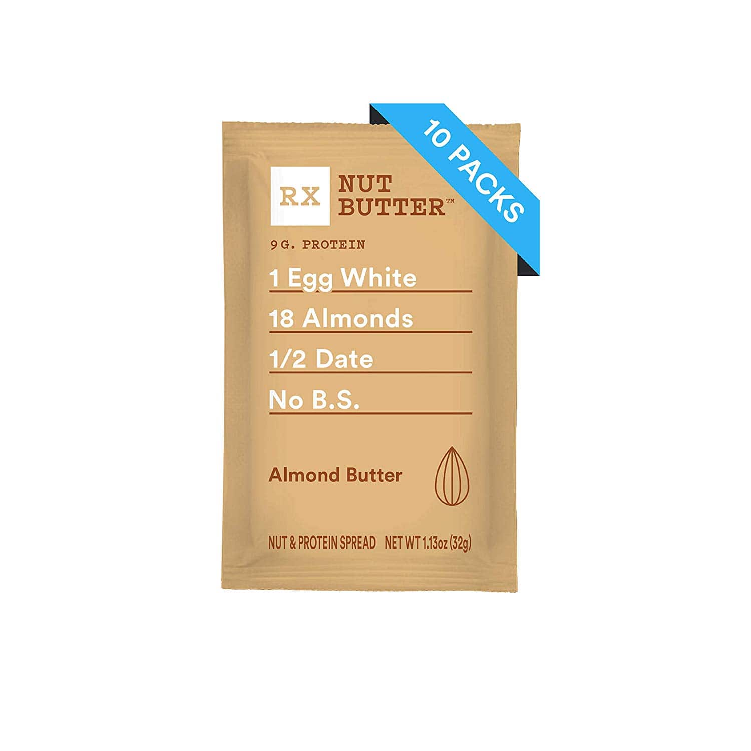 RXBAR, Peanut Butter, Low Carb, Keto Friendly, No Added Sugar, Gluten Free, 1.13 Ounce (Pack of 10), w/ S&S Amazon $11.21