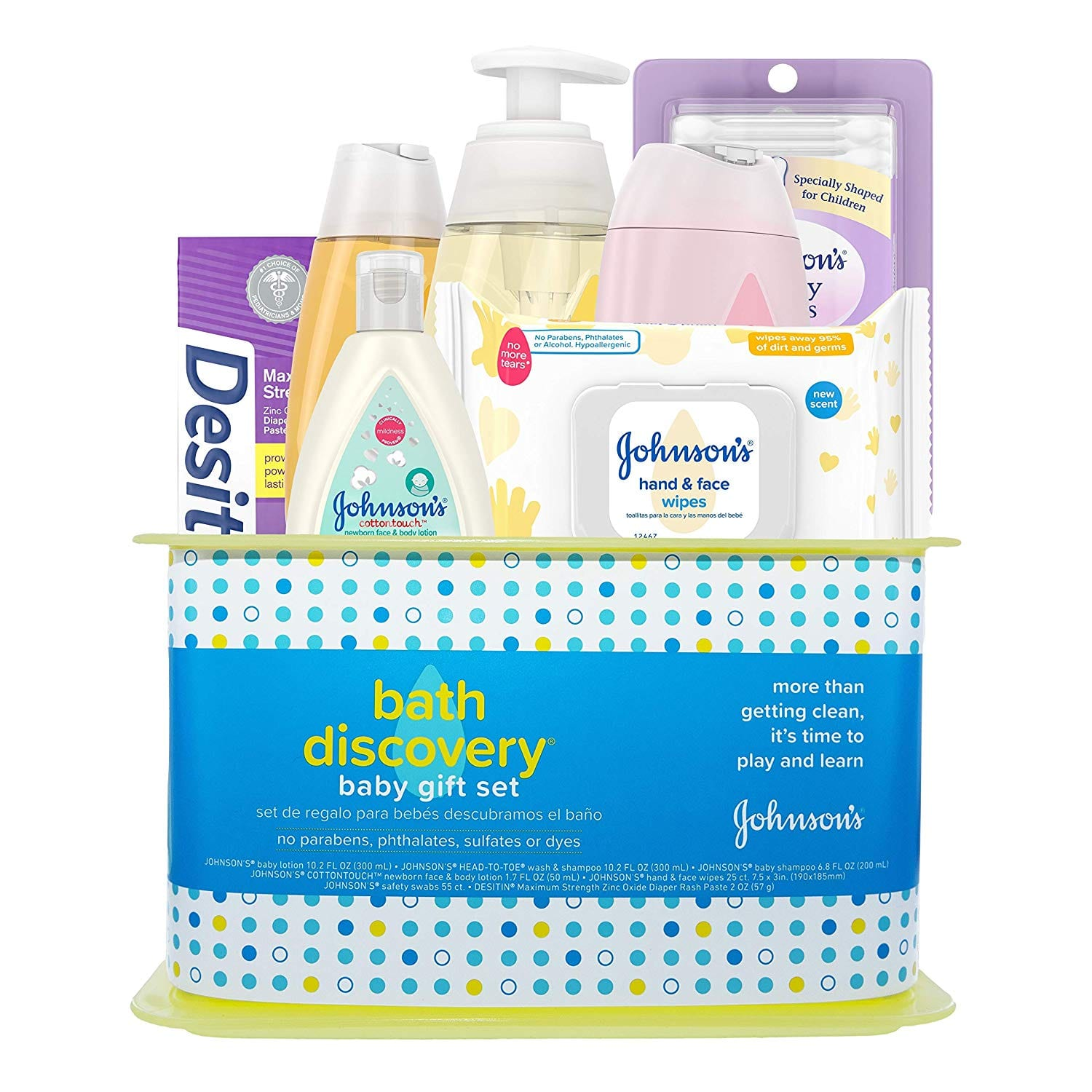 Johnson's Bath Discovery Baby Gift Set, Baby Bath Time Essentials for Parents-to-Be, 7 Items at Amazon $15.38