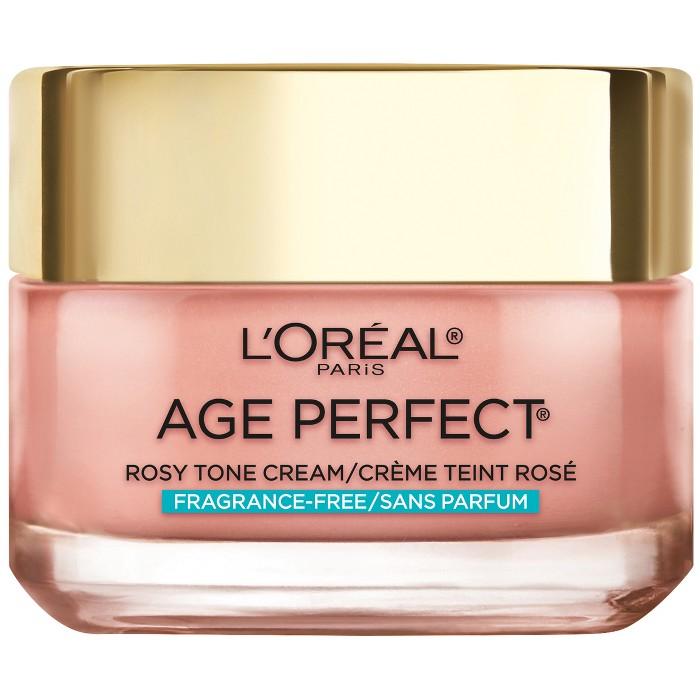 L'Oréal Paris Age Perfect Rosy Tone Fragrance Free Face Moisturizer - 1.7oz at Target $7.37