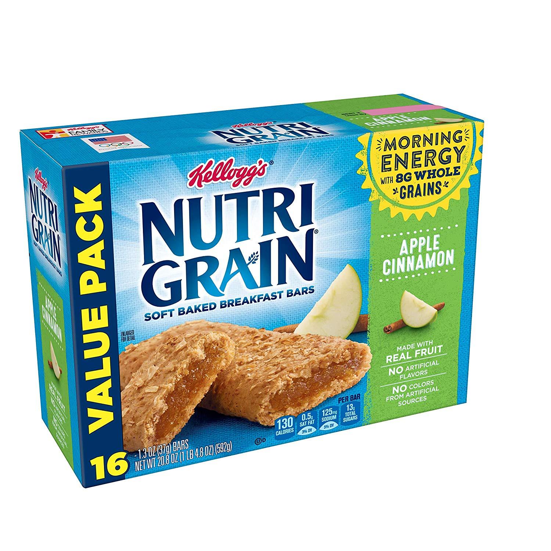Kellogg's Nutri-Grain, Soft Baked Breakfast Bars, Assorted Pack, 1.3oz (48Count) w/ S&S Amazon $11.48