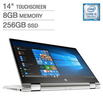 "Costco Members: HP Pavilion x360 14"" Touchscreen 2-in-1 Laptop, Intel Core i5, 1080p ($10 Shipping) $499.97"