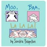Target: 25% Off Children's Board Books - Moo, Baa, LA LA LA  by Sandra Boynton $3.06 (or lower)