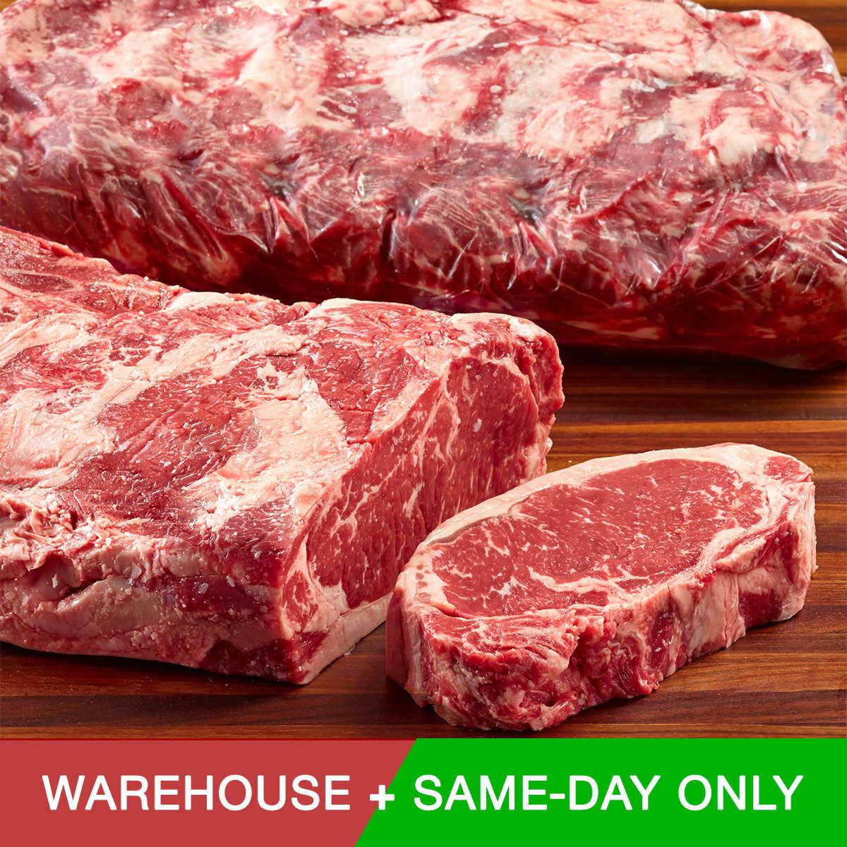 $25 off USDA Prime Beef Loin Whole New York, Costco B&M