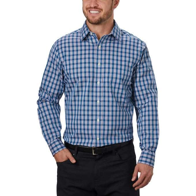Costco: Kirkland Signature Men's Tailored Fit Dress Shirt + Free S/H $9.97