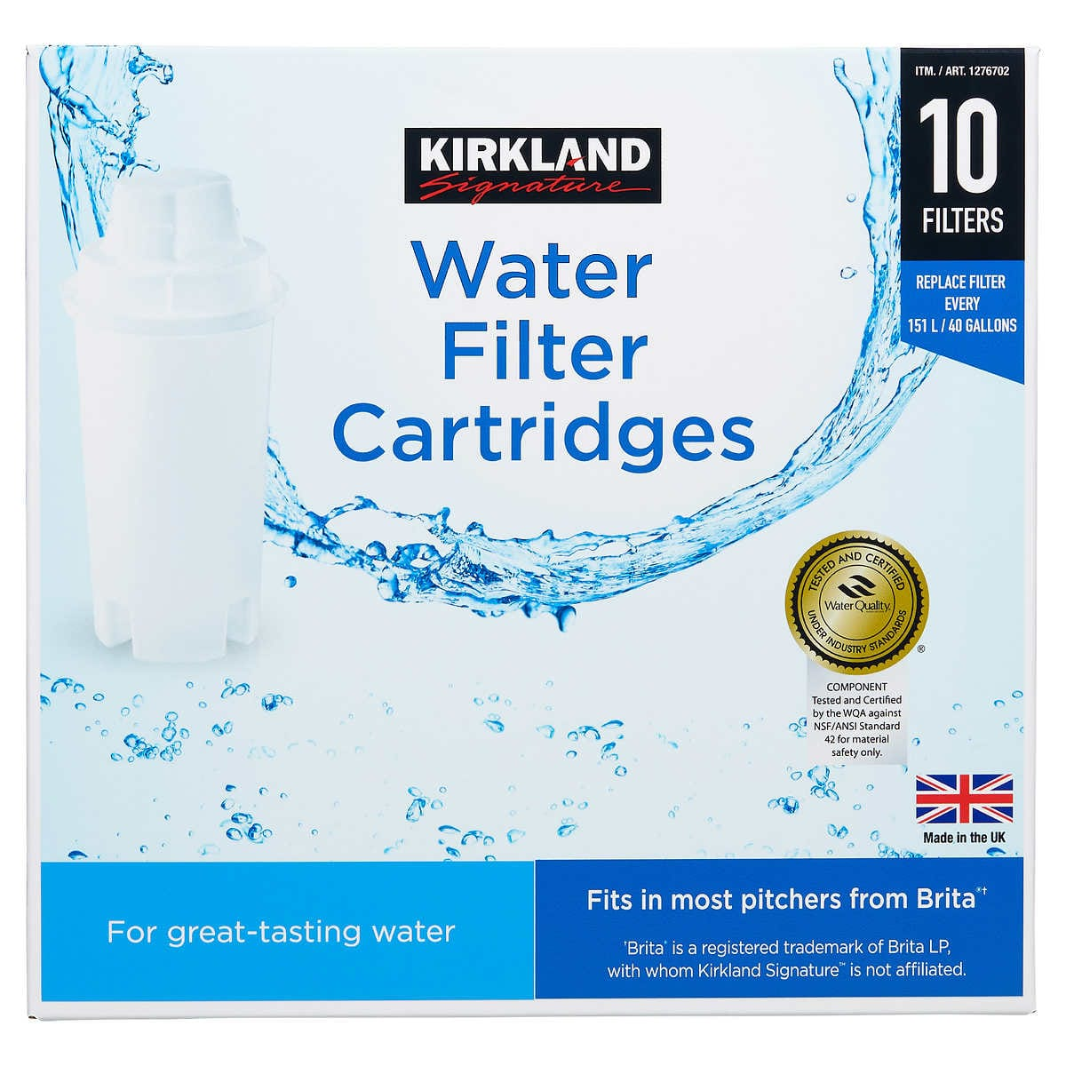 Kirkland Signature Water Filter Cartridge, 10-pack Set $24.99 + Free S/H