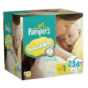 $3 off coupon on Pampers Swaddlers (sizes 1,2,3) - as low as $0.14 / diaper