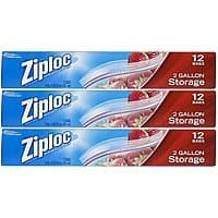Amazon Deal: Ziploc Storage Bags 2 Gallon - 36 count : $10.47 or $11.27