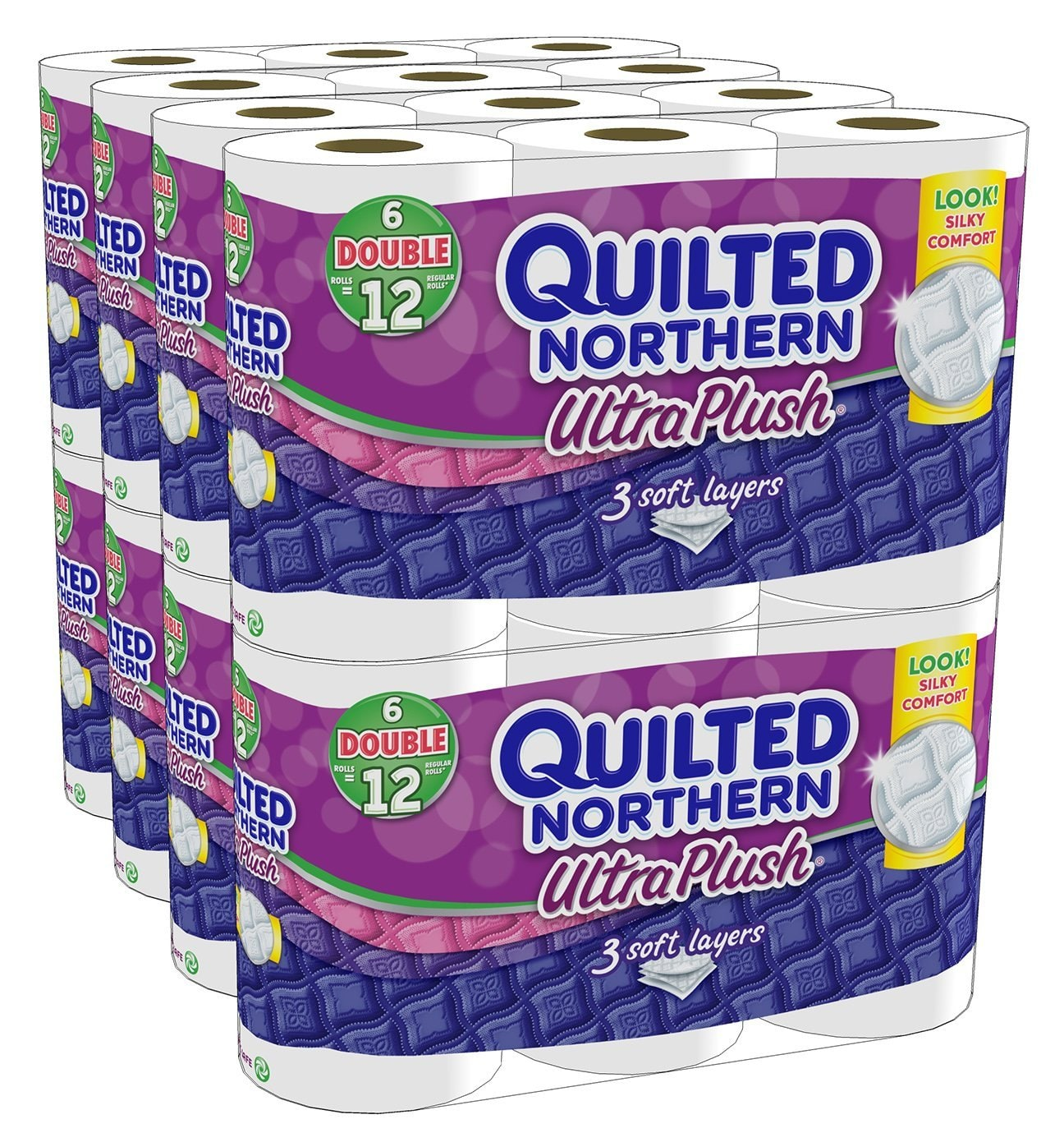 Quilted Northern Ultra Plush Bath Tissue, 48 Double Rolls - $20,49 ($0.42 per roll) or lower w/ Free Prime Shipping