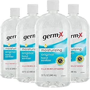 Germ-X Hand Sanitizer, Original, 32 Fluid Ounce (Pack of 4), 128 Fl Ounce $17.99
