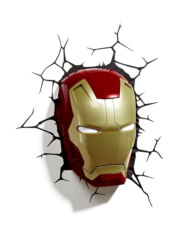 3D Light FX Marvel Iron Man Mask 3D Deco LED Wall Light - $14.98 @ Amazon.com
