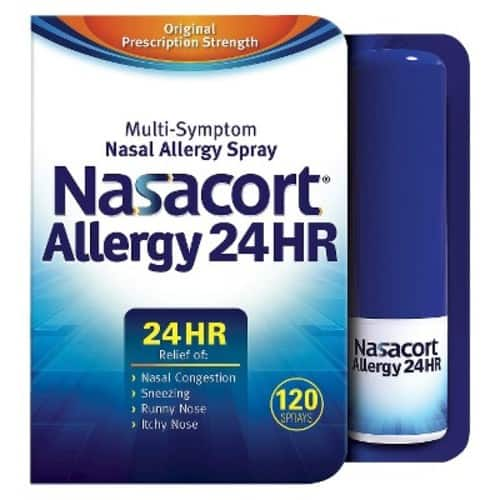 Nasacort Nasal Spray, 16.9 ml (2 Bottles) [240 Sprays] - $22.99 @ Amazon.com