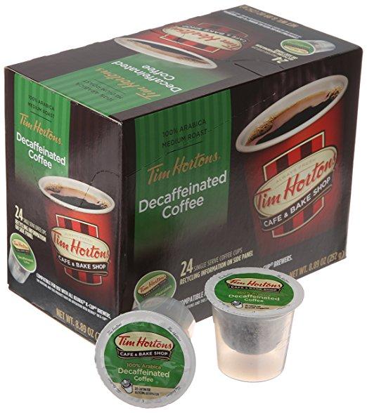 DEAD - Tim Horton's Single Serve Coffee Cups, Decaffeinated, 24 Count - $1.91 @ Amazon.com [ADD-ON ITEM]