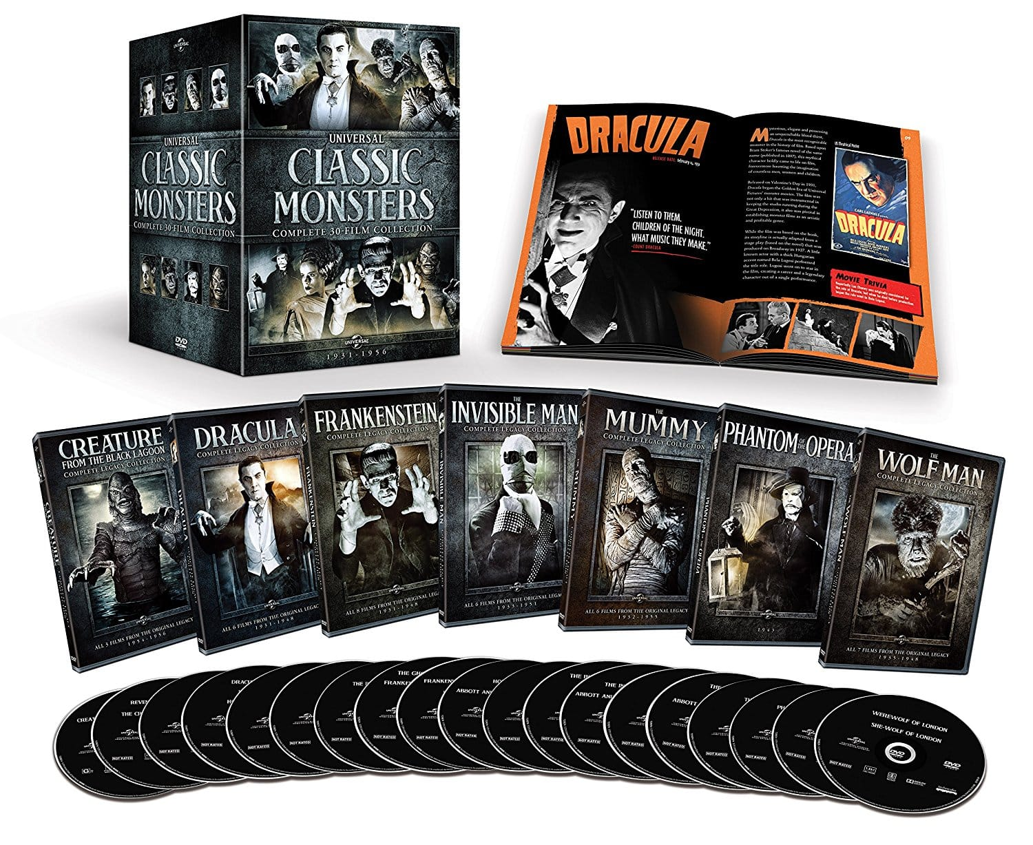 Universal Classic Monsters: Complete 30-Film Collection [DVD] - $35.49 @ Amazon.com