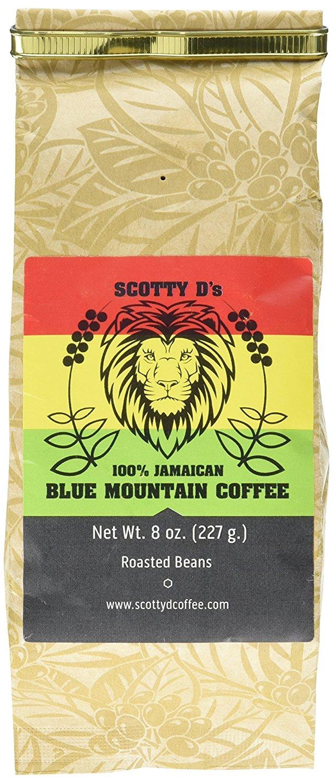 Scotty D's Jamaican Coffee 100% Blue Mountain Coffee- 8 oz. (Medium Roast) (Whole Bean) - $13.76 @ Amazon.com [Lighting Deal]