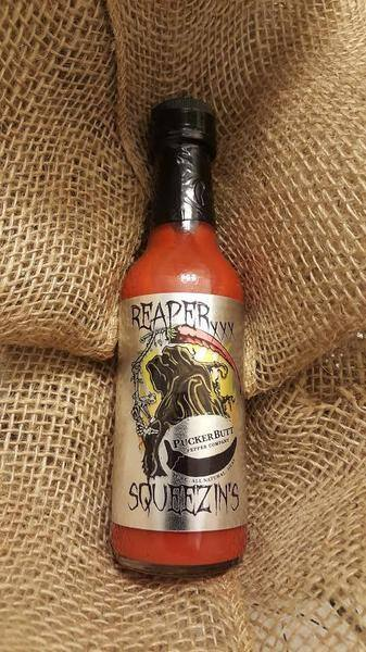Reaper Sauce ($8) and Reaper Squeezins ($15) on sale at Pucker Butt