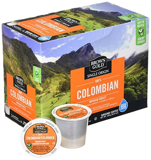 Brown Gold, 100% Columbian Coffee, 24 Single Serve RealCups - $7.14 @ Amazon.com w/30% off coupon