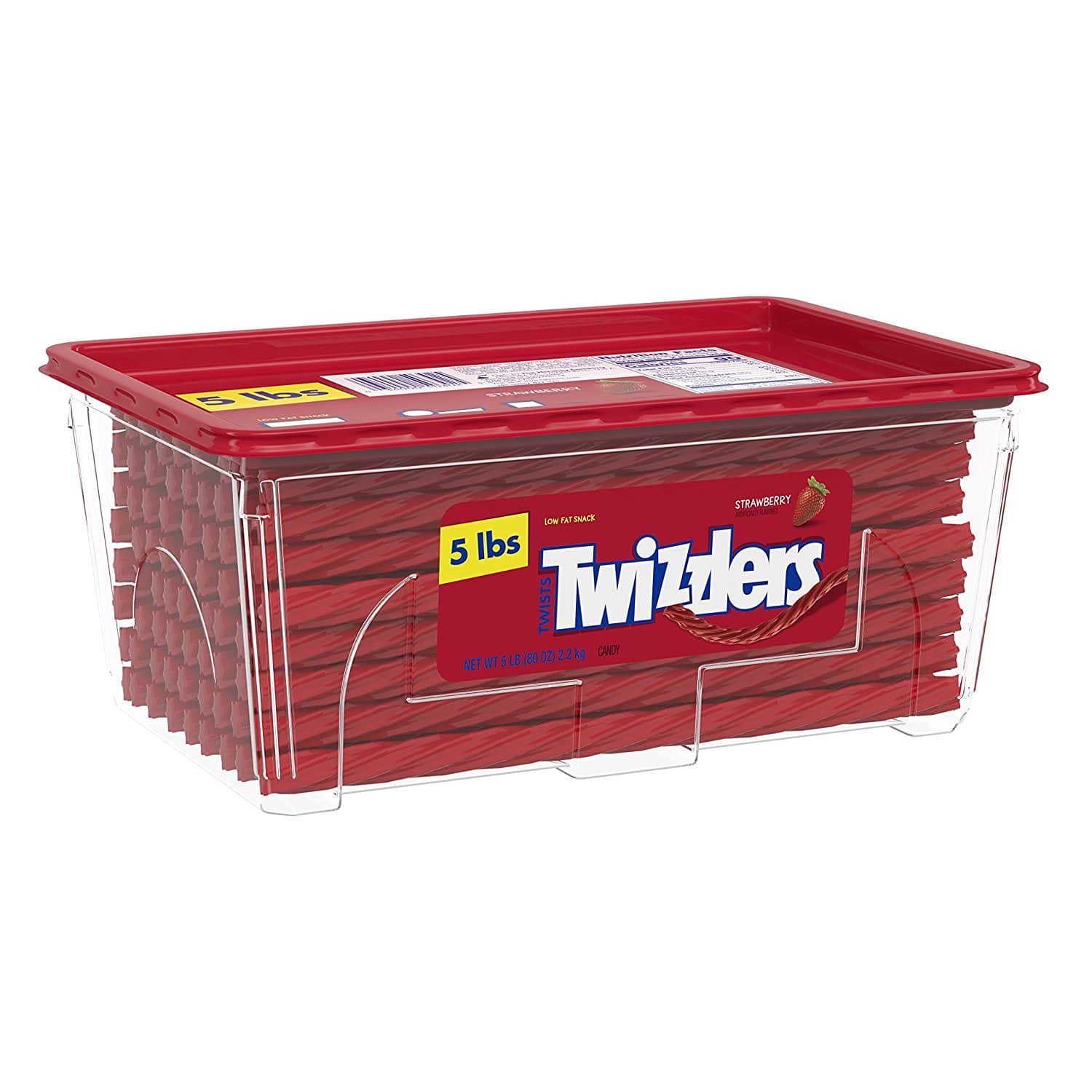 TWIZZLERS Licorice Candy, Halloween Candy, Strawberry, 5 Pound - $8.40 @ Amazon.com w/S&S