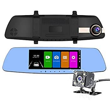 Dual dash cam 7 inch touch screen Full HD 1080P Dual Lens Car Camera Rearview Mirror Car Camcorder Backup Camera With G-sensor $59.99 AC + FS (PRIME)