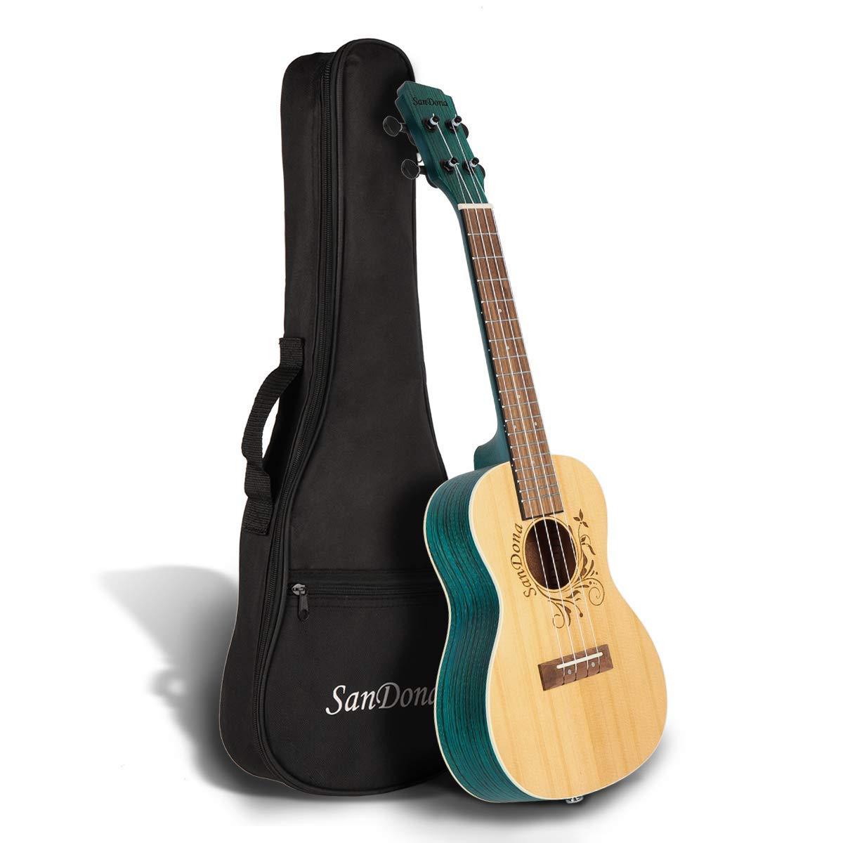 SANDONA Acoustic Electric 24'' Concert Ukulele Kit with Built-in Under-Saddle Pickup (Isle) $39.89 + FREE Prime Shipping $39.99