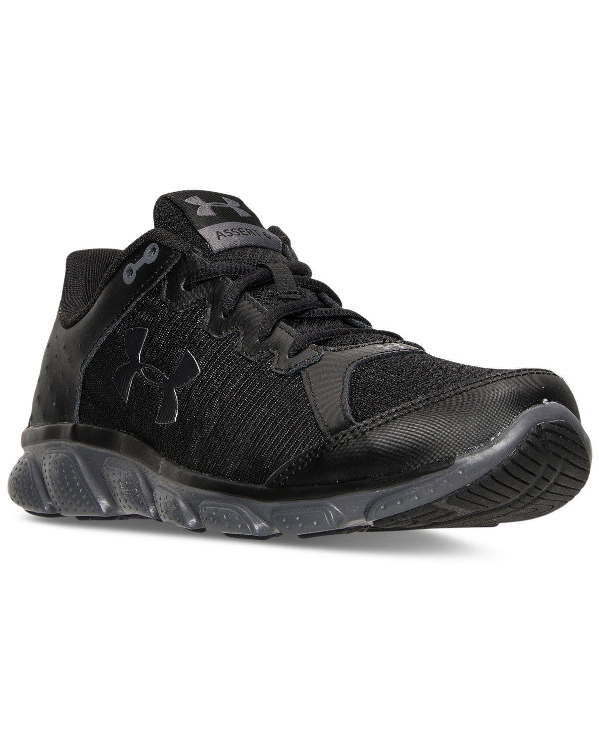 Men's Micro G Assert 6 Running Sneakers Under Armour, solid black, Macys $39.98 w/free in store pickup
