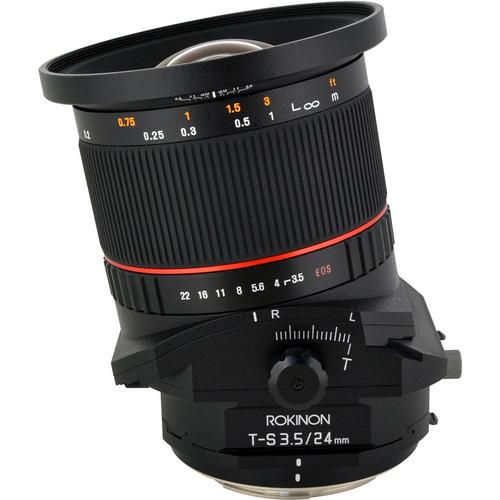 Rokinon T-S 24mm f/3.5 ED AS UMC Tilt-Shift Lens for Sony E $699